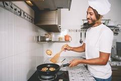 烹调和烹饪概念 免版税库存图片