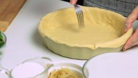 烹调和称呼乳蛋饼食物收据 影视素材