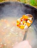 烹调喀山汤的chorba 免版税库存图片