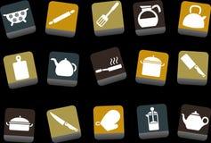 烹调图标集合工具 免版税库存图片