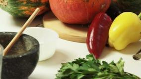 烹调在家烹调健康食品 股票录像