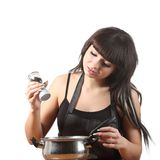 烹调妇女 库存图片