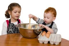 烹调孩子 库存图片