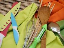 烹调工具厨房工作厨师 库存图片