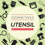 烹调工具和器物背景 库存例证