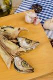 烹调干鱼 图库摄影