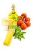 烹调意大利语的成份 库存照片