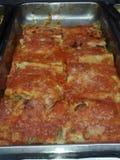 烹调意大利语的食品成分 滚动LASAÃ'A 库存照片