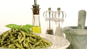 烹调意大利语的食品成分 股票录像