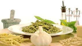 烹调意大利语的食品成分 股票视频