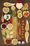 烹调意大利语的食品成分 库存图片