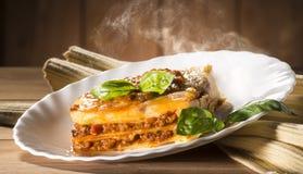 烹调意大利语的食品成分 免版税库存图片