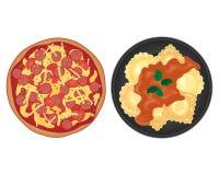 烹调意大利语的食品成分 向量例证