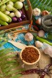 烹调成份的泰国食物的分类 加香料成份 免版税库存图片