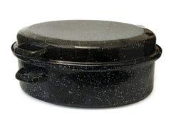 烹调搪瓷罐 图库摄影