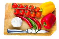 烹调新鲜蔬菜 免版税库存图片