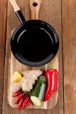 烹调新鲜蔬菜 库存图片