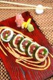 烹调日本maki寿司 免版税库存照片