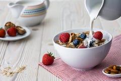 烹调早餐 免版税库存图片