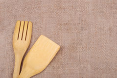 烹调木麻袋布的器物 免版税库存照片