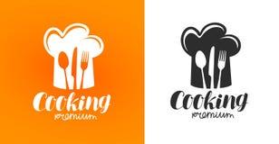 烹调标签或商标 餐馆,小餐馆,吃饭的客人,小餐馆,咖啡馆象 库存例证