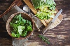 烹调沙拉大白菜 免版税库存图片