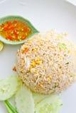 烹调泰国油煎的猪肉的米 图库摄影