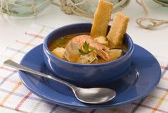 烹调海鲜汤西班牙语 免版税库存图片