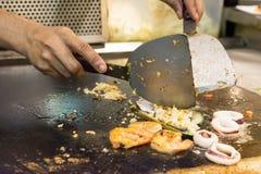 烹调海鲜 图库摄影