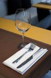 烹调消耗大的haute餐馆集合表 免版税库存照片