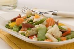 烹调混杂的人群混杂的西班牙蔬菜 免版税图库摄影