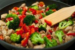 烹调炖煮的食物 免版税图库摄影
