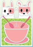 烹调狗eps frindship菜单的猫 库存照片