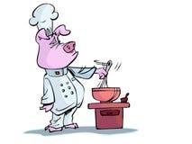 烹调猪 皇族释放例证