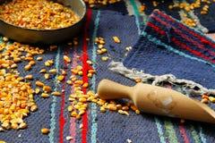 烹调玉米 库存照片