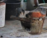 烹调瓶子在琅勃拉邦,老挝 库存照片