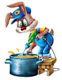 烹调由兔子 免版税库存照片