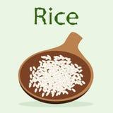 烹调的一个杯子米为戒毒所菜单 免版税图库摄影