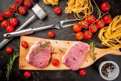 烹调的晚餐产品 免版税库存图片