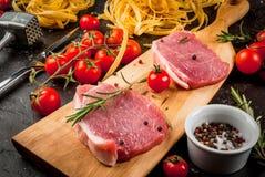 烹调的晚餐产品 库存图片