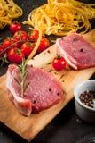 烹调的晚餐产品 免版税库存照片