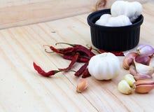 烹调的泰国食品成分 库存图片