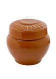 烹调的烘烤陶瓷罐 库存图片