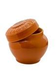 烹调的烘烤陶瓷罐 库存照片