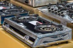 烹调的煤气炉 图库摄影
