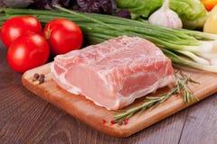 烹调的生肉 免版税图库摄影