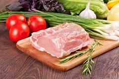 烹调的生肉 库存照片