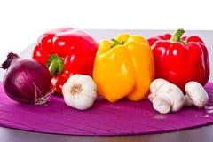 烹调的蔬菜 库存图片