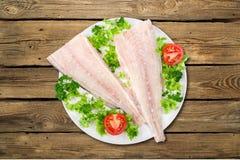 烹调的鳕鱼 图库摄影