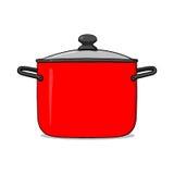 烹调罐例证 免版税库存照片